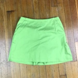 Adidas Women's Skort Stretch Green Size 6 Pockets